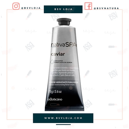 Creme Hidratante para Mãos Desodorante Nativa SPA Caviar, 75g abrir compartilhar