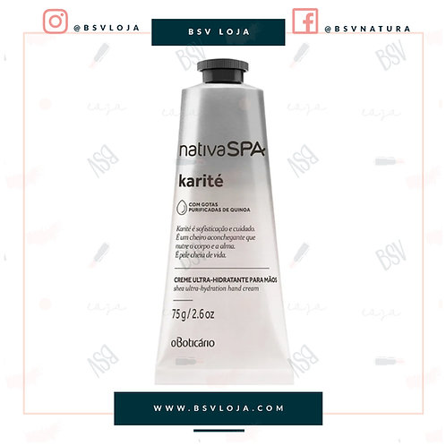 Creme Hidratante Desodorante para Mãos Nativa SPA Karité, 75g