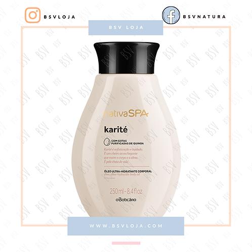 Nativa SPA Óleo Hidratante Desodorante Corporal Karité 250ml