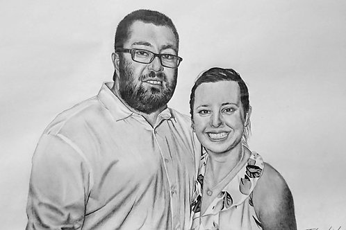 Small A5 Highly Detailed Pencil Portrait