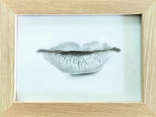 Lips Original Drawing