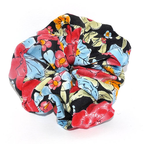 Night Floral Scrunchie