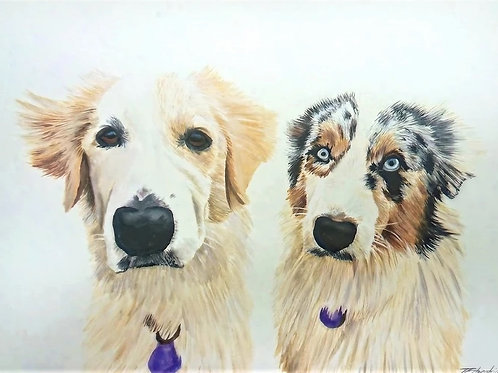 Extra Large A2 Highly Detailed Watercolour Portrait