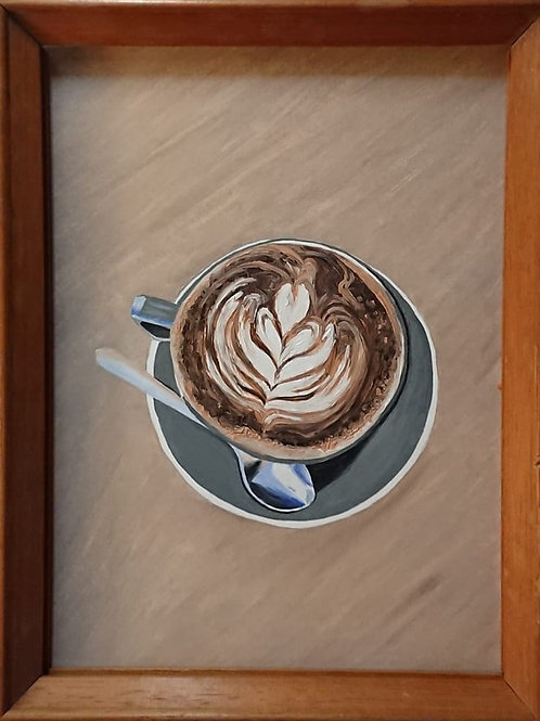 Latte Art Original Painting