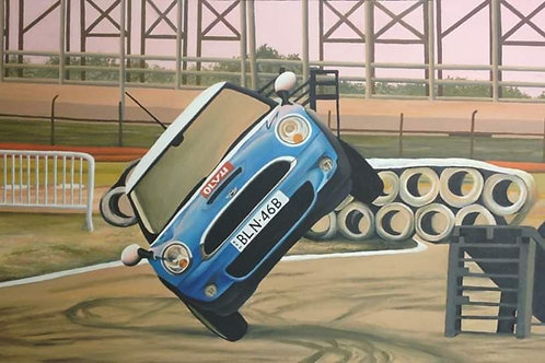 Mini Wheel Stand Original Painting