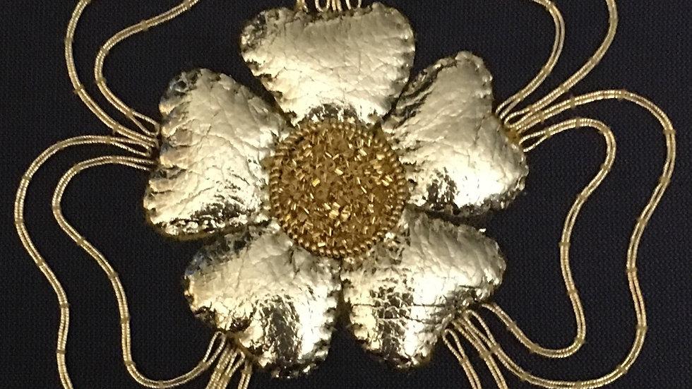 Goldwork Tudor Rose