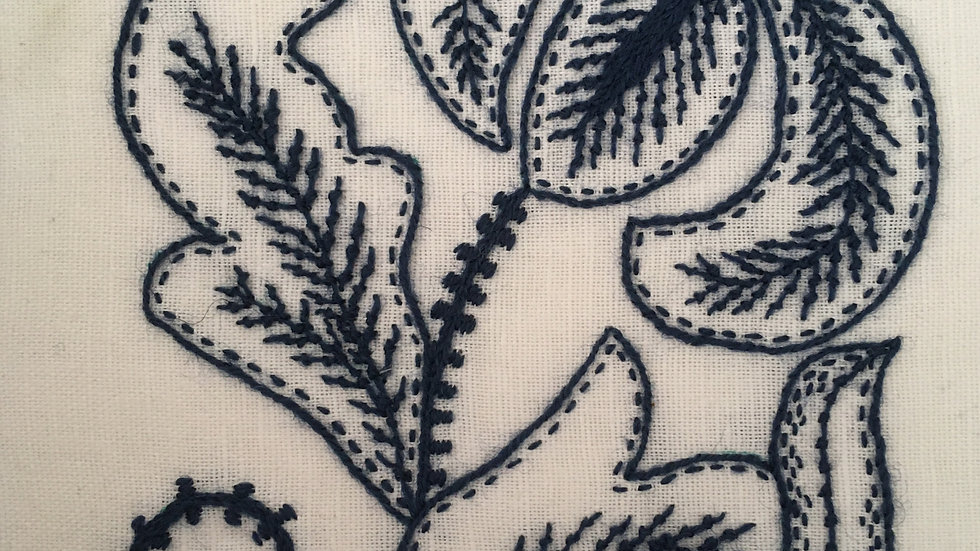 Crewelwork Lily