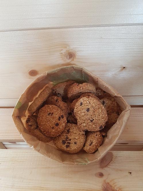 Biscuits bio choco-avoine noisette / 100gr