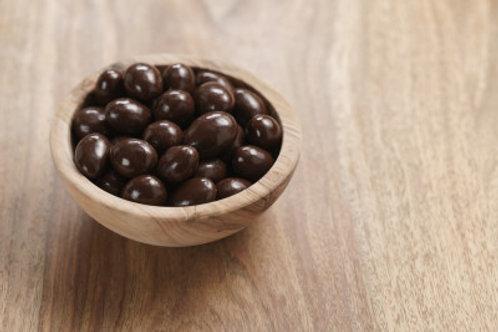 Amandes bio enrobées de chocolat noir / 100gr - Origine UE / NON UE