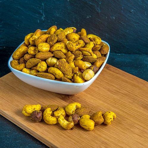 Mélange de fruits secs bio au shoyou et curry / 200gr - Origine : UE / NON UE