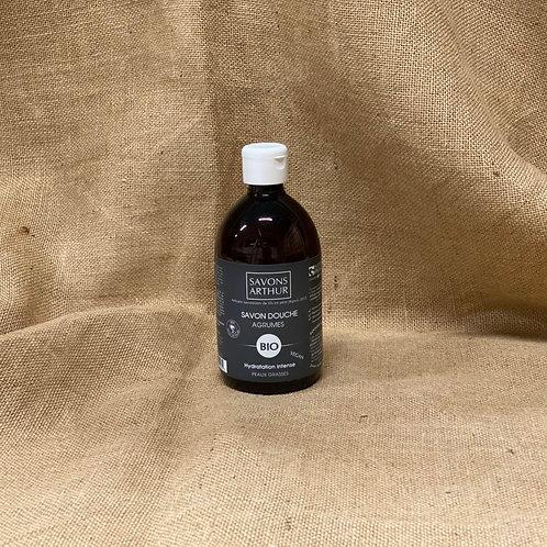 Flacon de 300ml de Savon bio aux agrumes – Peaux grasses