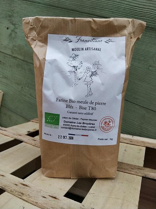 Farine de blés bio T80 / kg