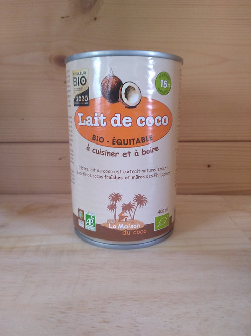 Lait de coco bio 15% MG / 400ml