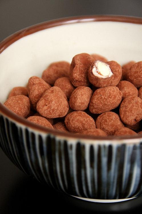 Amandes bio enrobées de chocolat lait / 100gr - Origine UE / NON UE