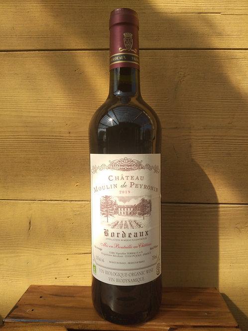 Vin rouge bio AOC Bordeaux Peyronin / 75cl