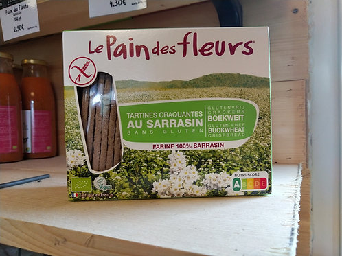 Pain des fleurs bio aux sarrasins / 150gr (sans gluten)
