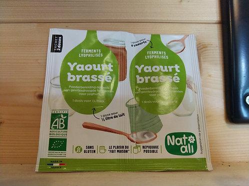 Ferment bio pour yaourt brassé 12 gr