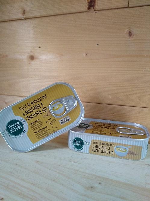 Filets de maquereaux MSC à la moutarde à l'ancienne - 113 gr