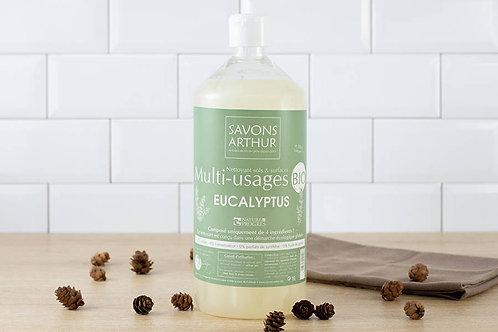 Flacon d'un litre de Nettoyant bio multi-usage à l'eucalyptus