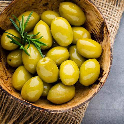 Olives vertes bio dénoyautées / 200gr