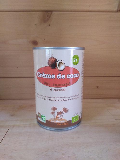 Crème de coco bio 21% MG / 400ml