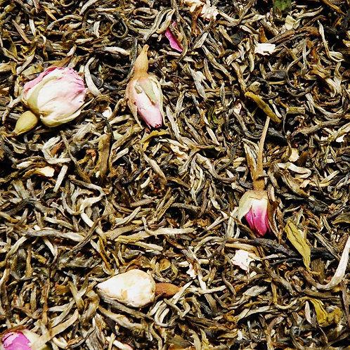 Thé blanc bio a la rose / 100gr - Origine Non UE