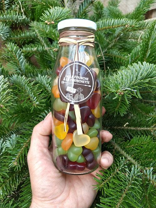 Candy bottle de coeur en gélatine bio et vegan