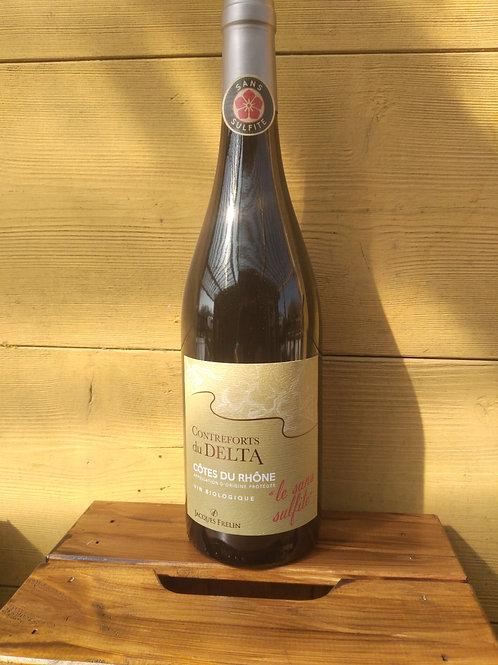 Vin rouge bio sans sulfite AOC Côtes du Rhône / 75cl