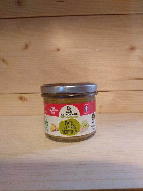 Pâte de curry vert Bio / 105 gr