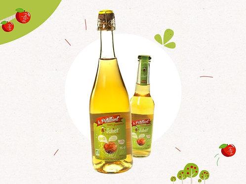 Jus de pommes pétillant et bio / 75cl - France