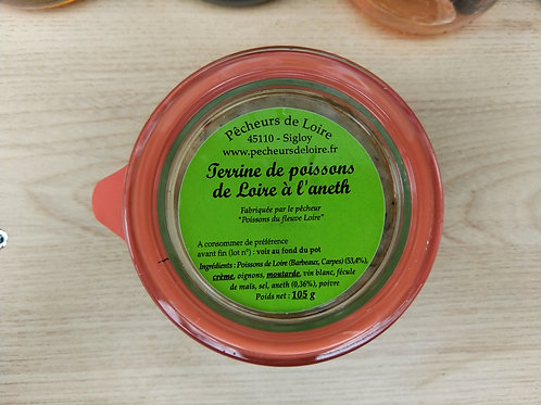 Terrine de poissons de Loire à l'Aneth / 105gr