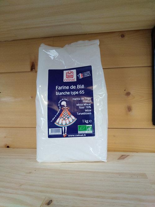 Farine de blé T 65 Bio - 1 kg / France