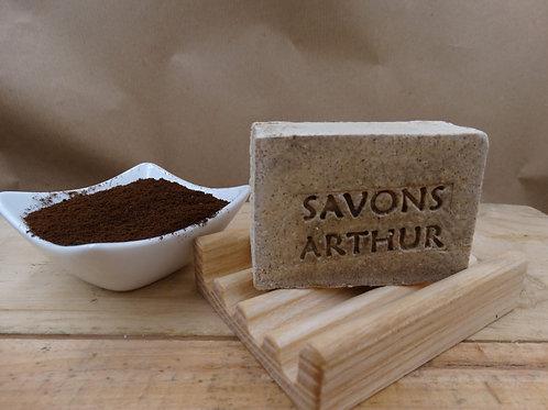 100gr de Savon bio exfoliant au Marc de Café – peaux grasses