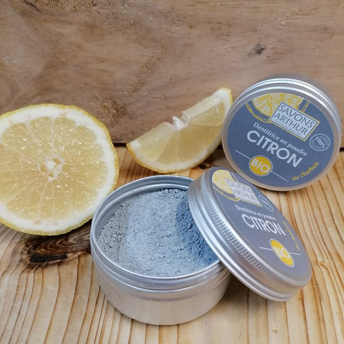 Dentifrice bio en poudre au citron / 30gr
