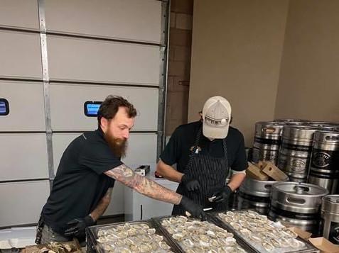 Fresh Oysters with/ local Farm
