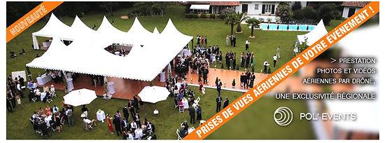 Drone aéronef photo aérienne vidéo ciel mariage pol'events point de vue unique pilote exclusivité mariage blois orléans tours château paris bourges angers nantes