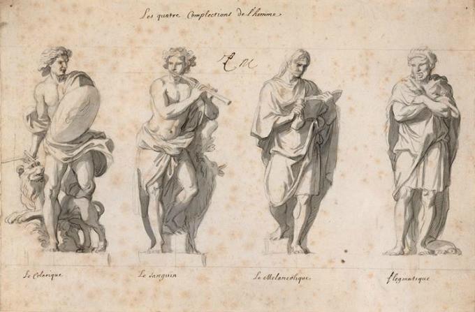 Charles Le Brun-Grande Commande-Les Quatre Temperaments