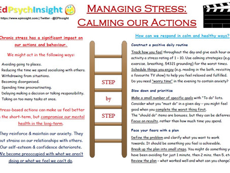 Managing Stress - Calming our Actions