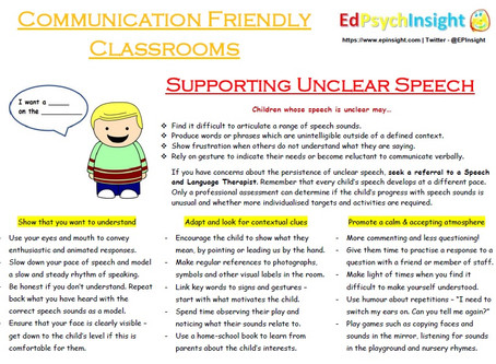 Supporting Unclear Speech in the Classroom