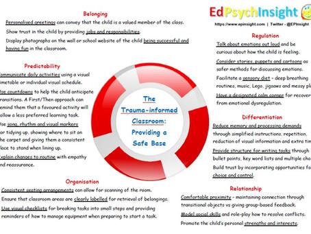 The Trauma-informed Classroom - Providing a Safe Base