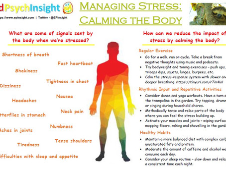 Managing Stress - Calming the Body