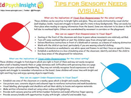 Tips for Sensory Needs - Visual