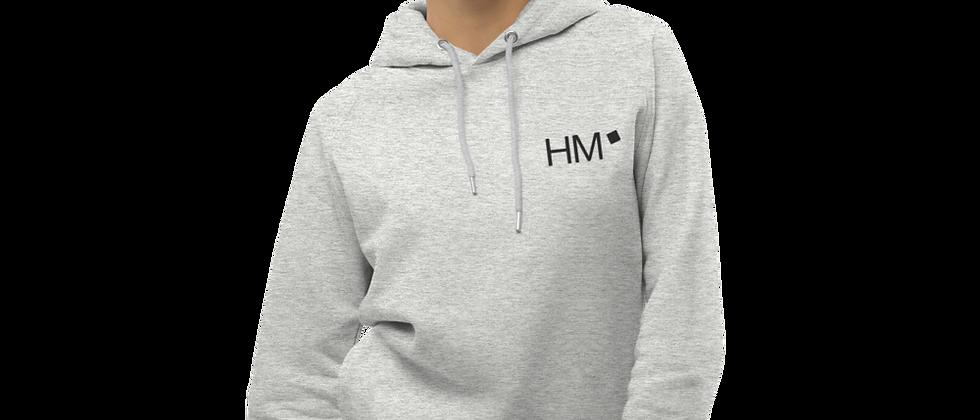 Bio - Hoodie mit schwarzem HM-Logo (gestickt)