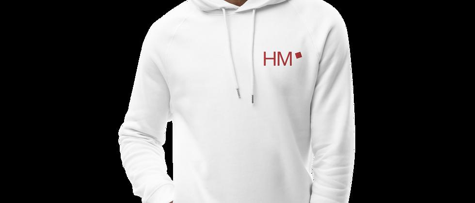 Bio - Hoodie mit rotem HM-Logo (gestickt)