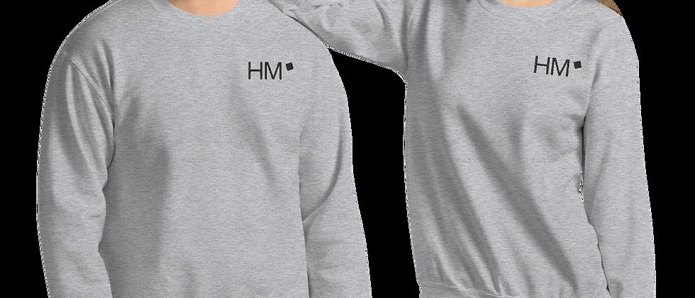 Pullover mit schwarzem HM-Logo (gestickt)