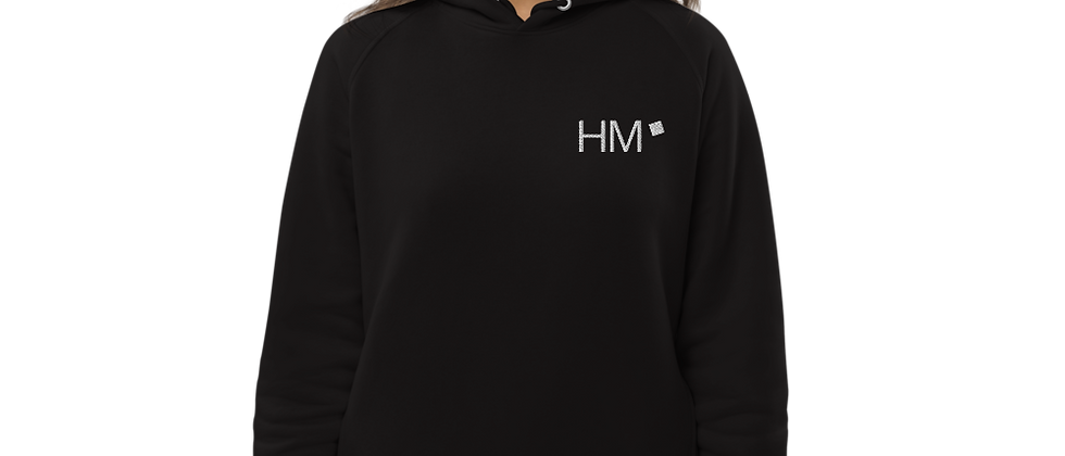 Bio - Hoodie mit weißem HM-Logo (gestickt)