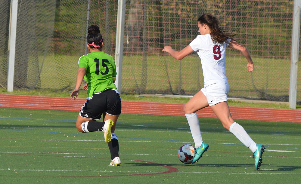 Grady's #9 Kaitlin Palaian on her way to her second goal