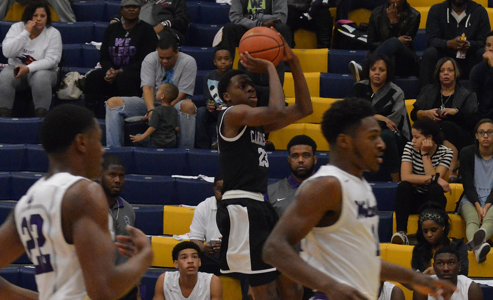 Sacred Heart's Kevion Nolan drains 3 of his 27 points