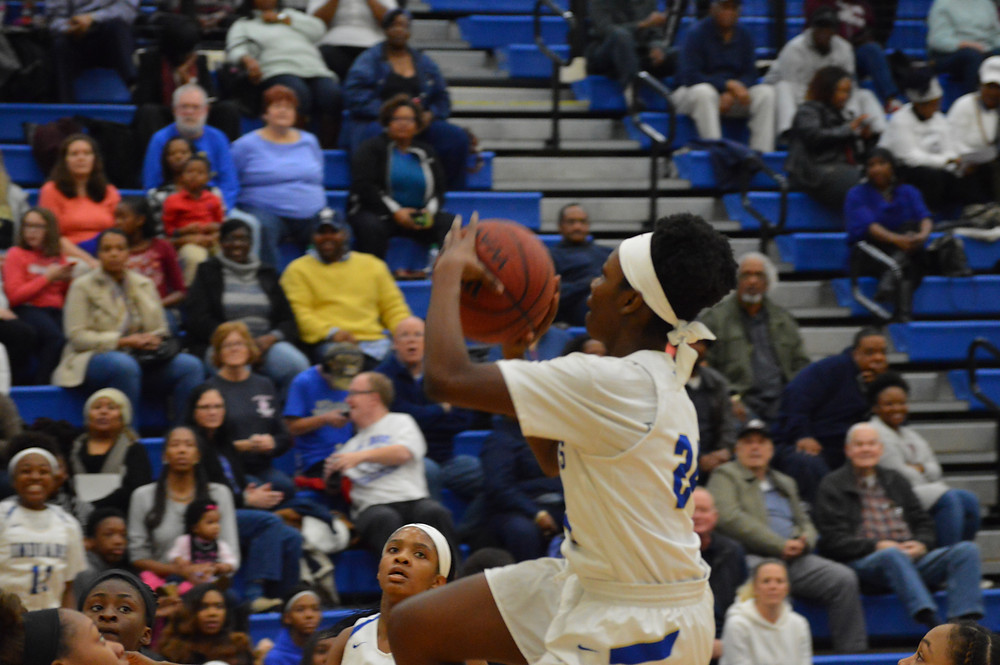 McEachern's #24 Victoria Agyin lays up 2 of her 19 pts