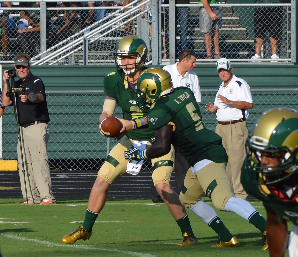 Grayson's #2 Chase Brice with the hand off